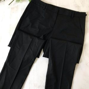 Theory black slim fit high waist ankle pants 4